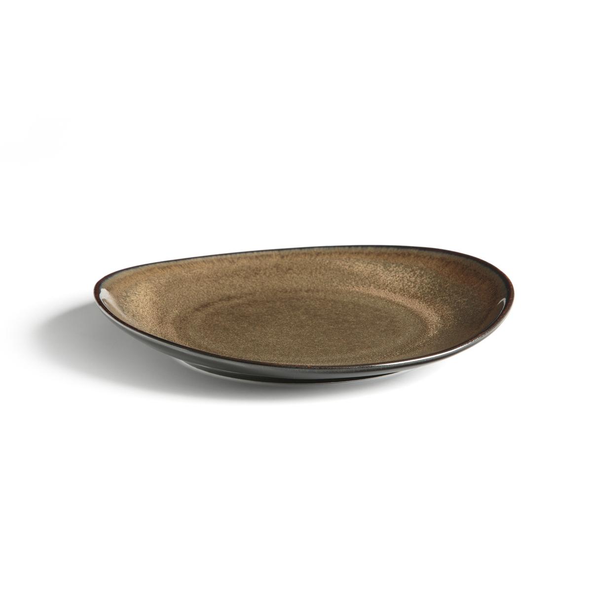 Тарелки La Redoute Десертные из керамики с эмалью Attale единый размер каштановый плоские la redoute тарелки из эмалированной керамики attale единый размер каштановый