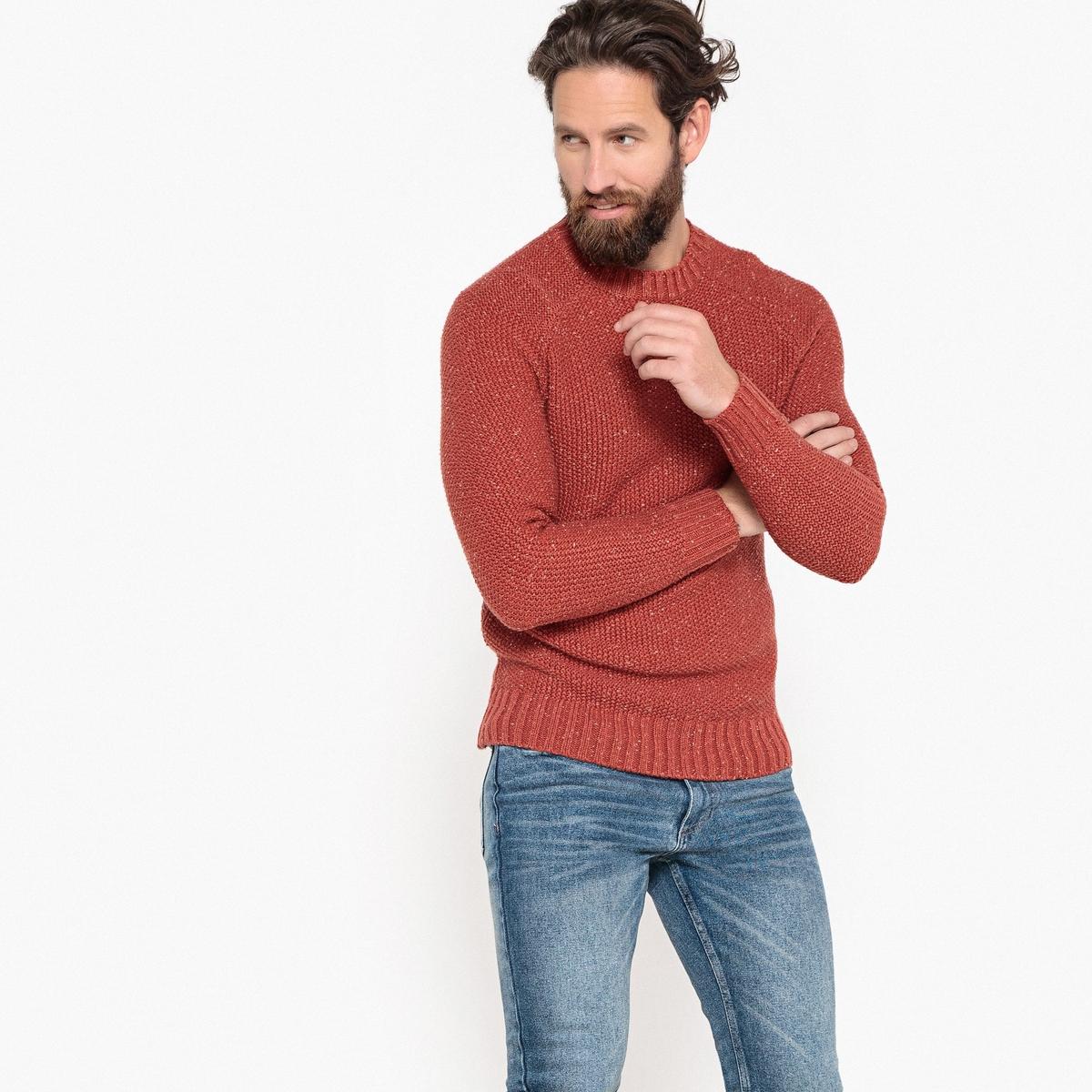 Пуловер La Redoute С круглым вырезом из плотного трикотажа 3XL красный пуловер la redoute с круглым вырезом из плотного трикотажа 3xl синий