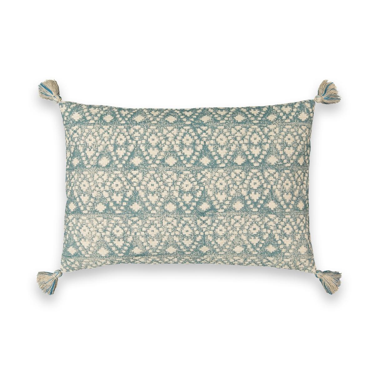 Чехол La Redoute На подушку с рисунком икат Kumba 60 x 40 см бежевый чехол навололчка la redoute aeri 40 x 40 см бежевый