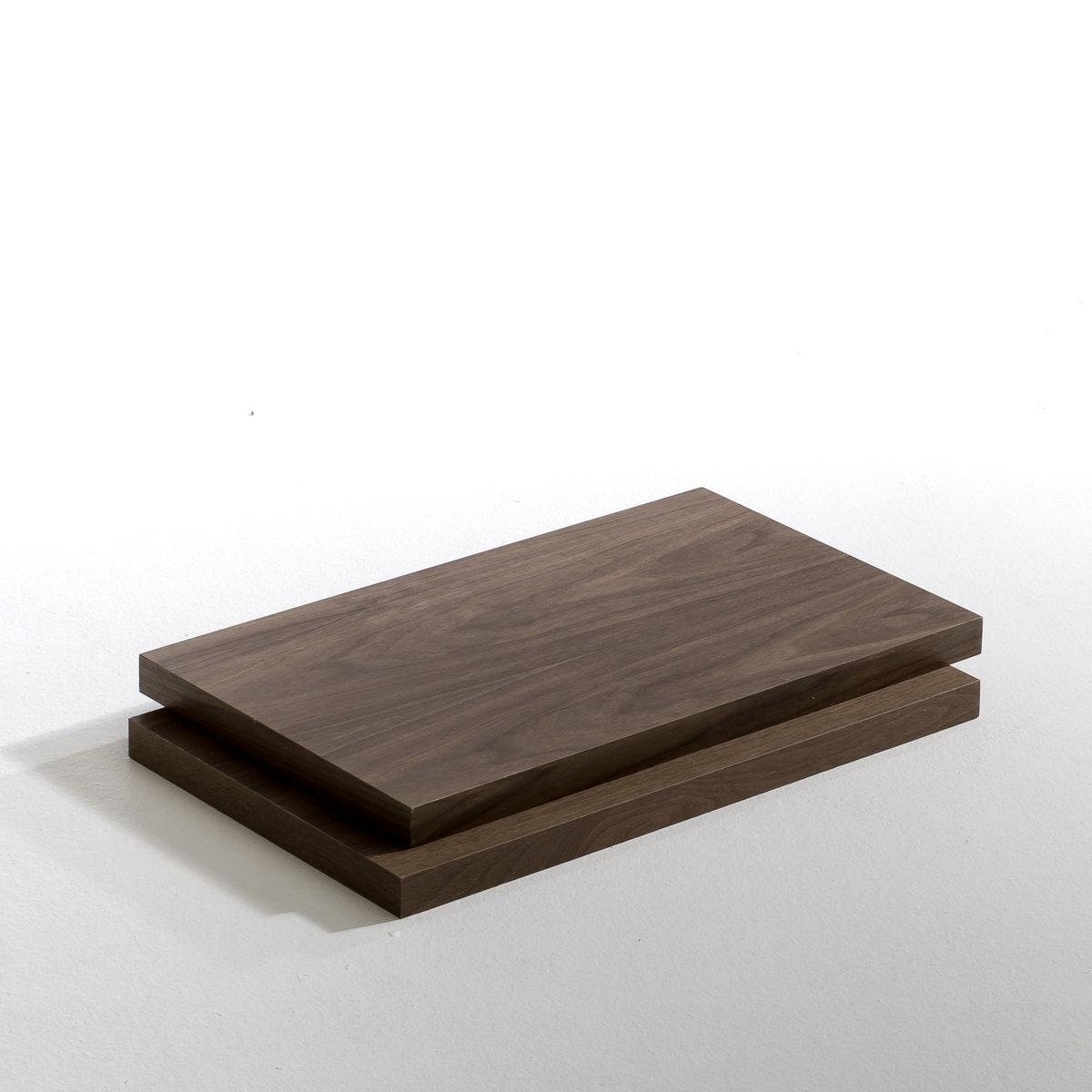 Этажерка Kyriel для гардеробнойХарактеристики : - МДФ, отделка полиуретановым лаком матового или блестящего цвета- Фиксируется на желаемой высоте с помощью уголковых кронштейнов для этажерок.   Размеры : - T60 : 60 x 3,74 x 36 см - T110 : 110 x 3,74 x 36 см Размеры и вес упаковки :- T60 : 70,5 x 10 x 44 см, 3,3 кг- T110 : 120,5 x 10 x 44 см, 7,7 кг<br><br>Цвет: ореховый