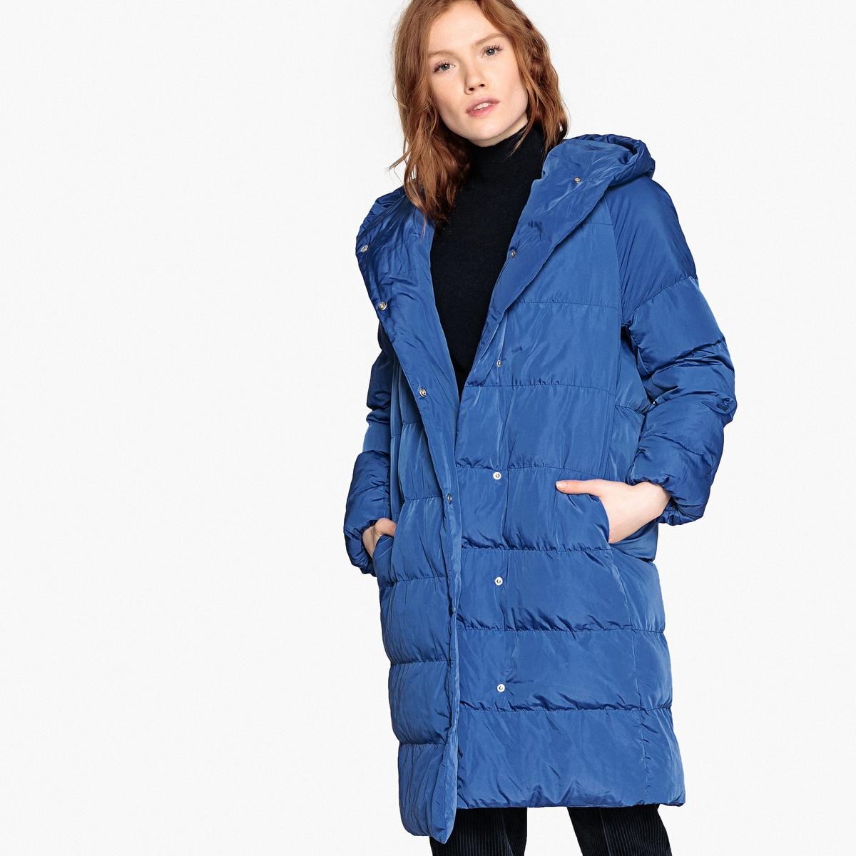 Куртка стеганая с капюшоном удлиненная куртка с капюшоном peggy ho удлиненная куртка с капюшоном