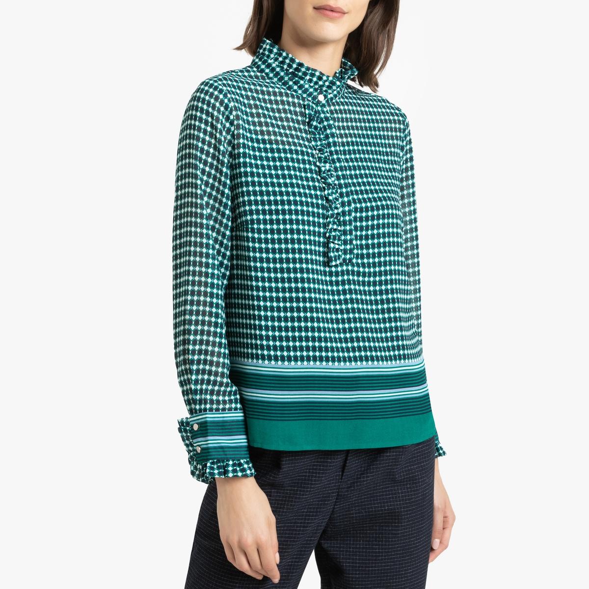 Блузка La Redoute С длинными рукавами LOUVE 3(L) зеленый цены