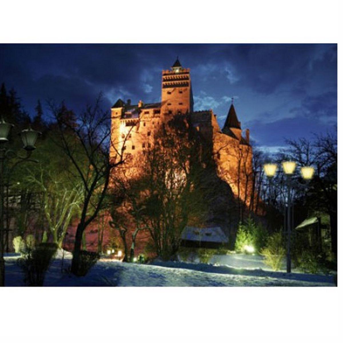 Puzzle 1000 pièces - Roumanie : Château de Bran dans la nuit