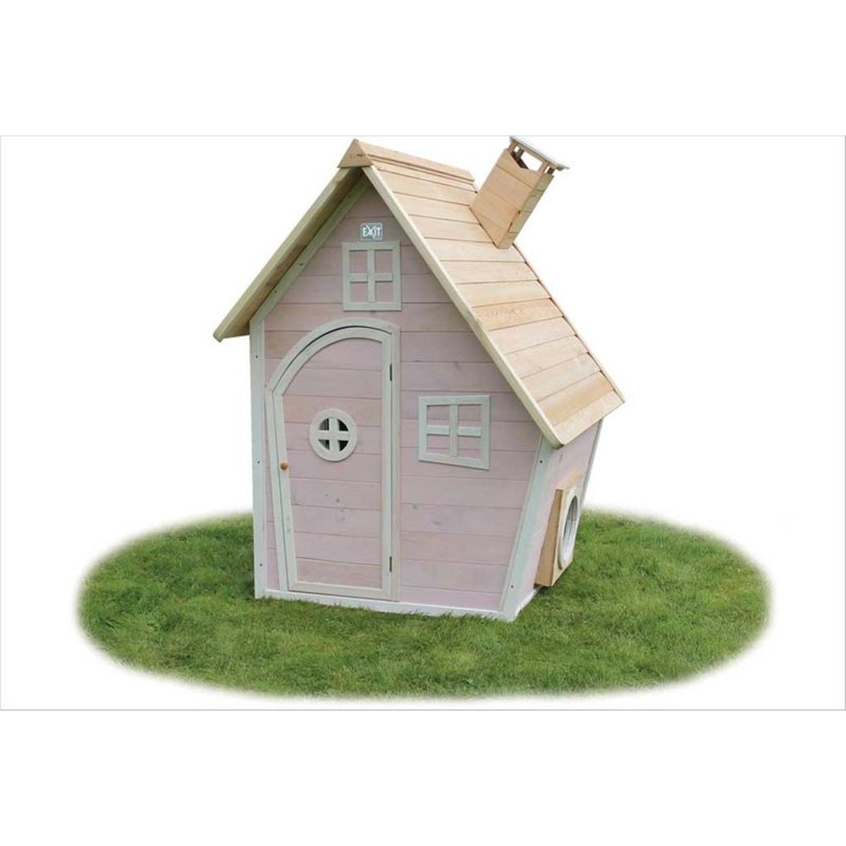 Petite cabane en bois rose Fantasia 100