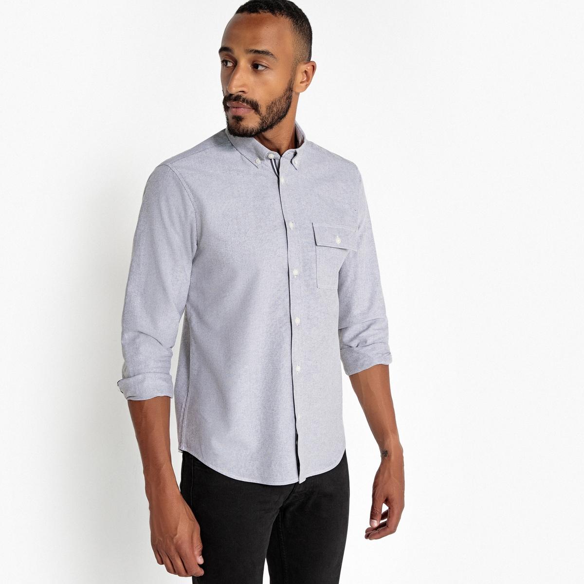 Camisa recta de manga larga