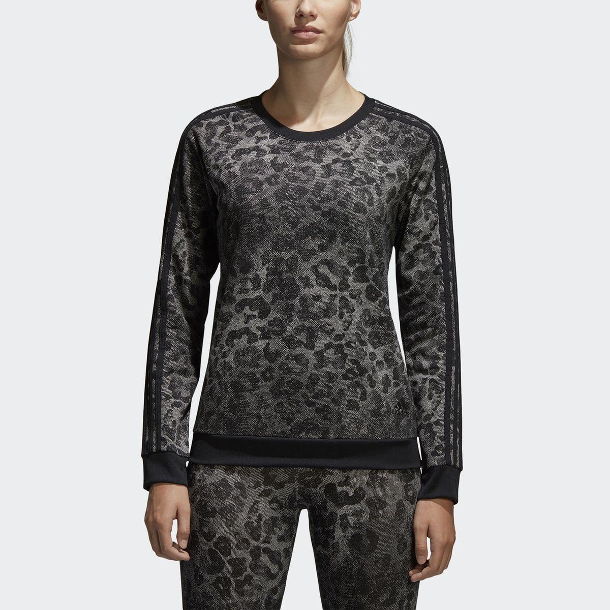 Sweat zippé imprimé léopard