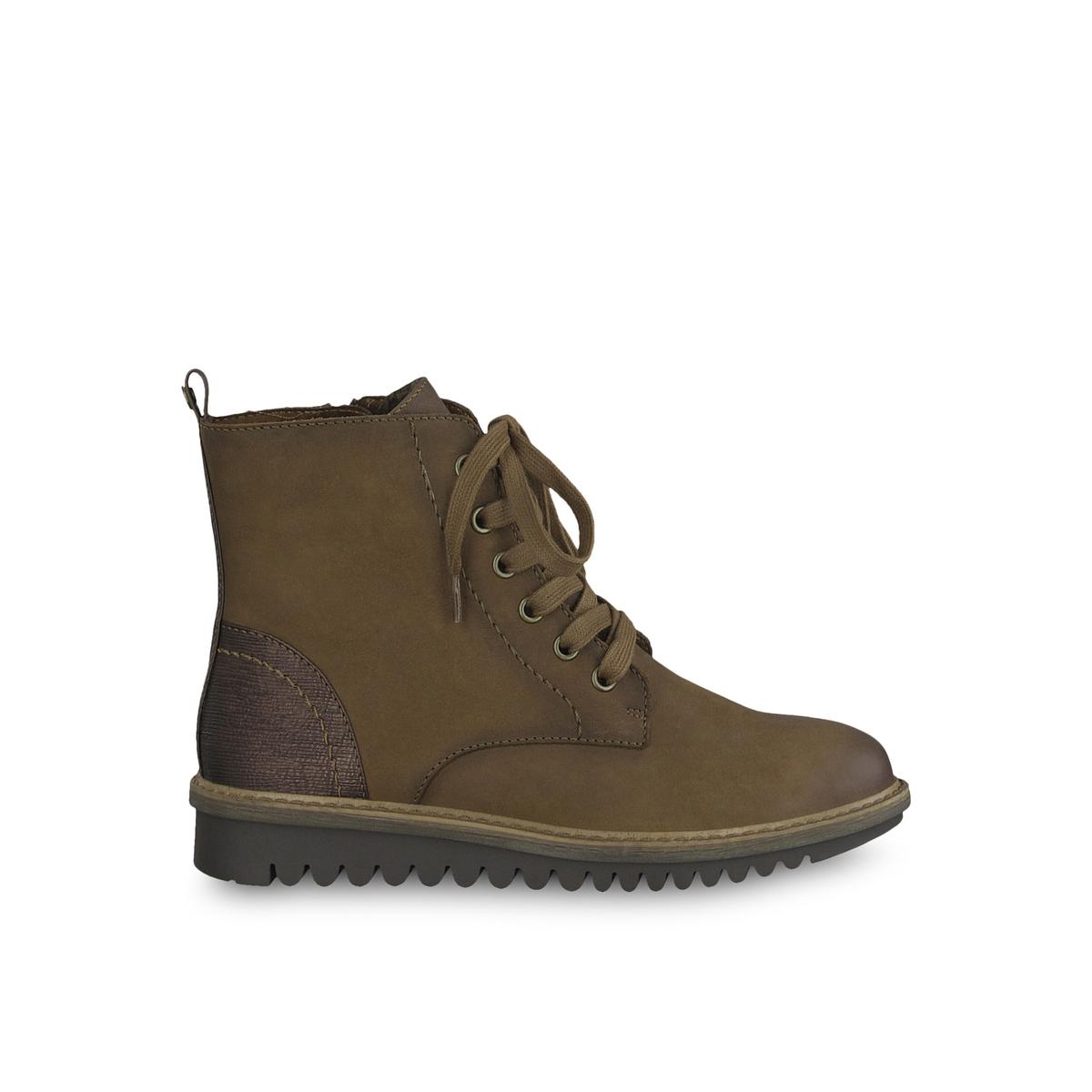 Ботинки La Redoute Кожаные Sapele 39 каштановый