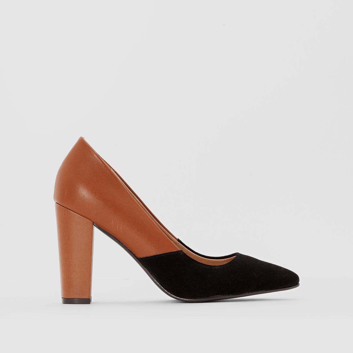 Туфли-лодочки кожаные Bicolore