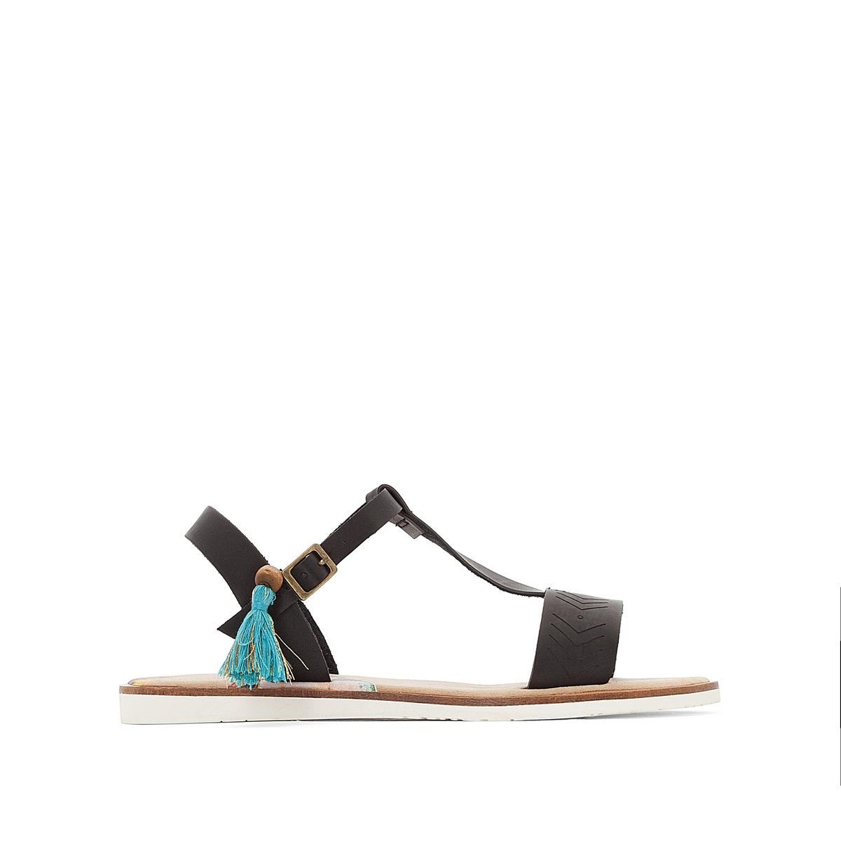 Босоножки MonkyВерх/Голенище : синтетика   Стелька : микрофибра  Подошва : каучук   Форма каблука : плоский каблук  Мысок : закругленный мысок  Застежка : пряжка<br><br>Цвет: черный