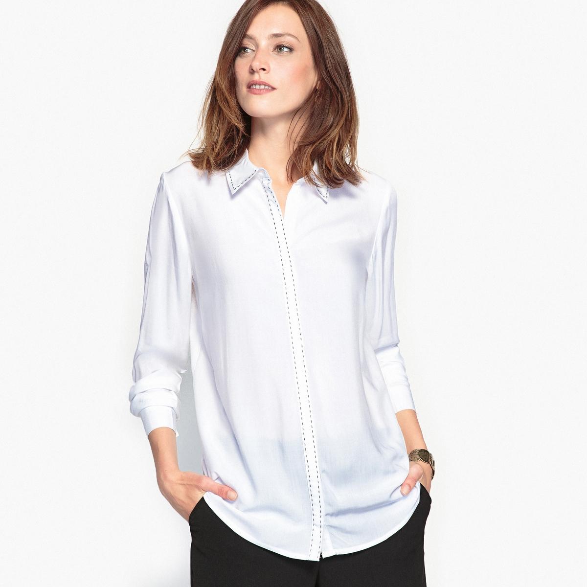 Блузка, оригинальная прострочка