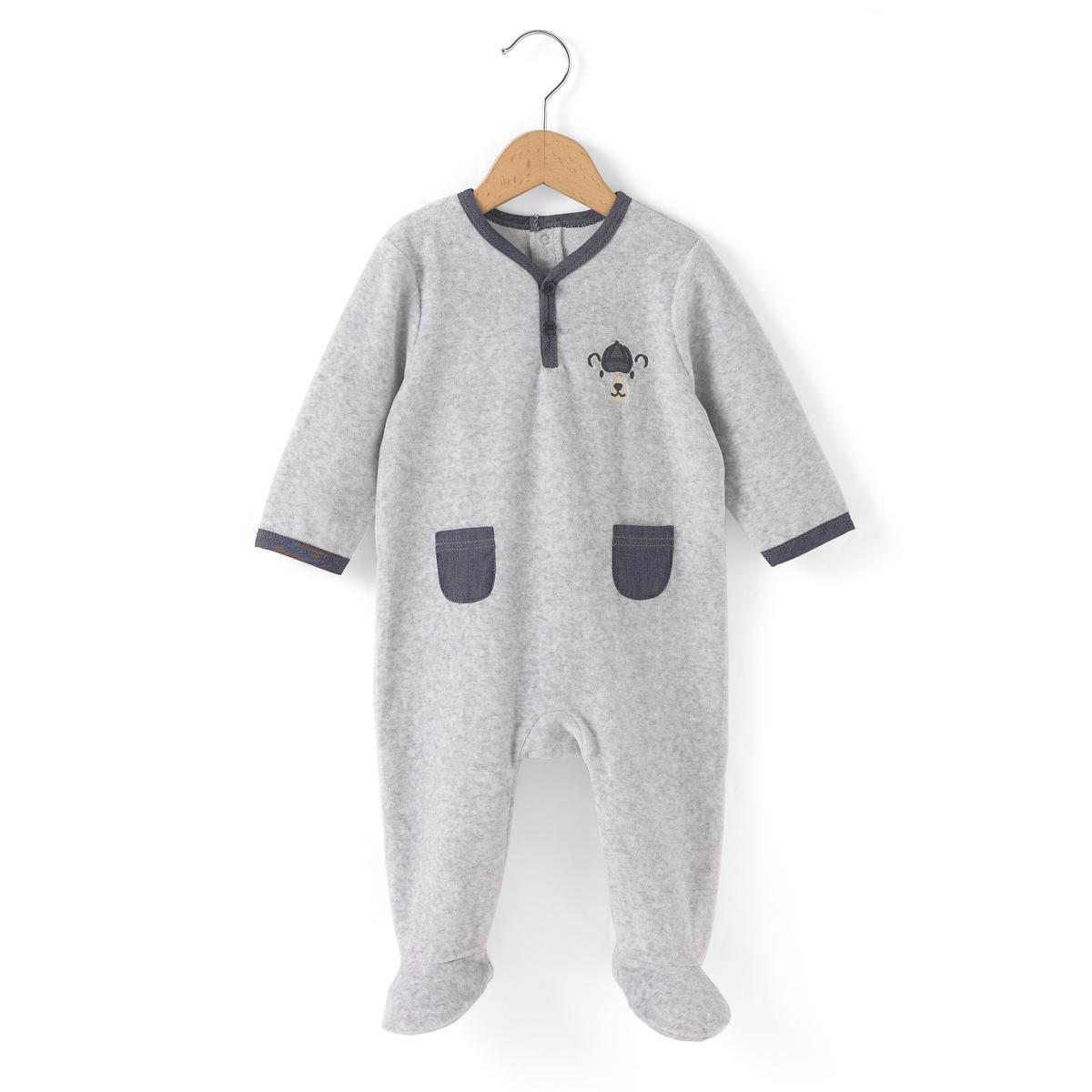 Пижама из велюра 0 мес-3 лет