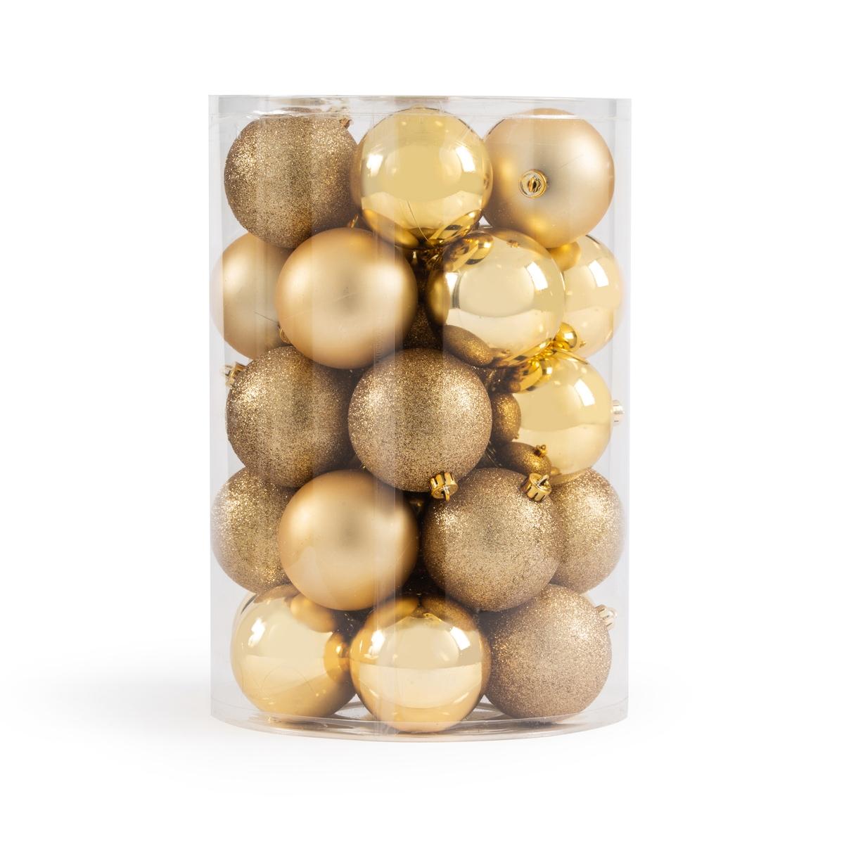 Набор La Redoute Из новогодних шаров золотистого цвета Caspar единый размер желтый набор игровой веселые шары создай компанию веселых шаров