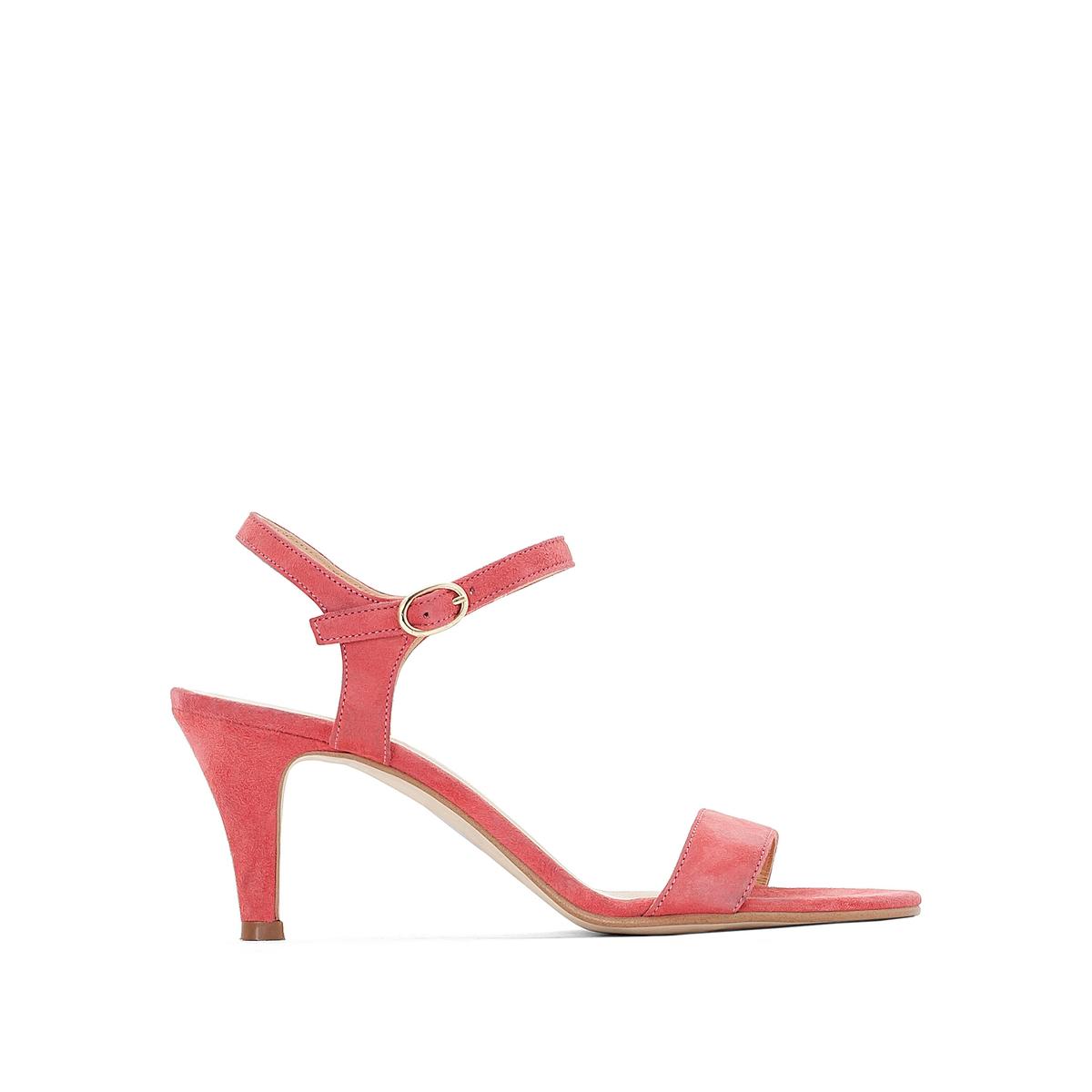 Босоножки кожаные на шпилькеВерх : кожа   Подкладка : кожа   Стелька : кожа   Подошва : эластомер   Высота каблука : 6 см   Форма каблука : шпилька   Мысок : открытый   Застежка : пряжка<br><br>Цвет: розовый