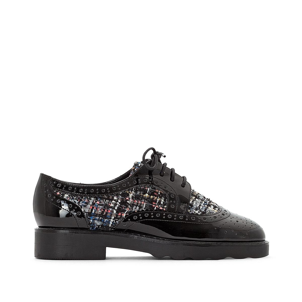Ботинки-дерби из синтетического материала ботинки дерби с пайетками 26 39