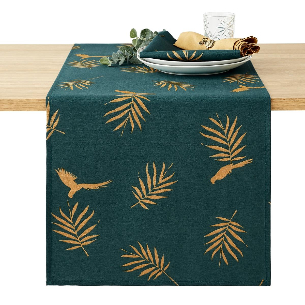 купить Дорожка La Redoute Столовая с рисунком и обработкой против пятен Cancun 45 x 150 см зеленый дешево