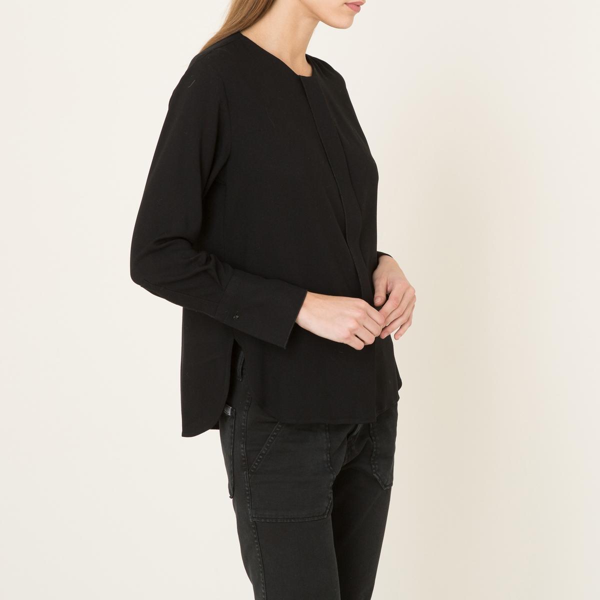 Блузка без воротника