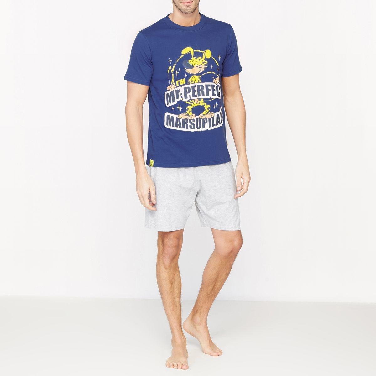 Pyjashort imprimé manches courtes