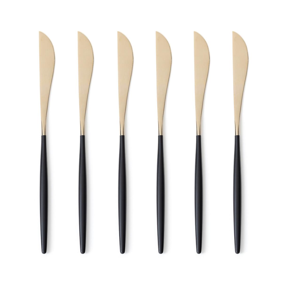 Фото - Набор LaRedoute Из 6 ножей из нержстали цвета шампань Barbule единый размер черный набор laredoute из 6 суповых ложек из нержстали barbule единый размер черный
