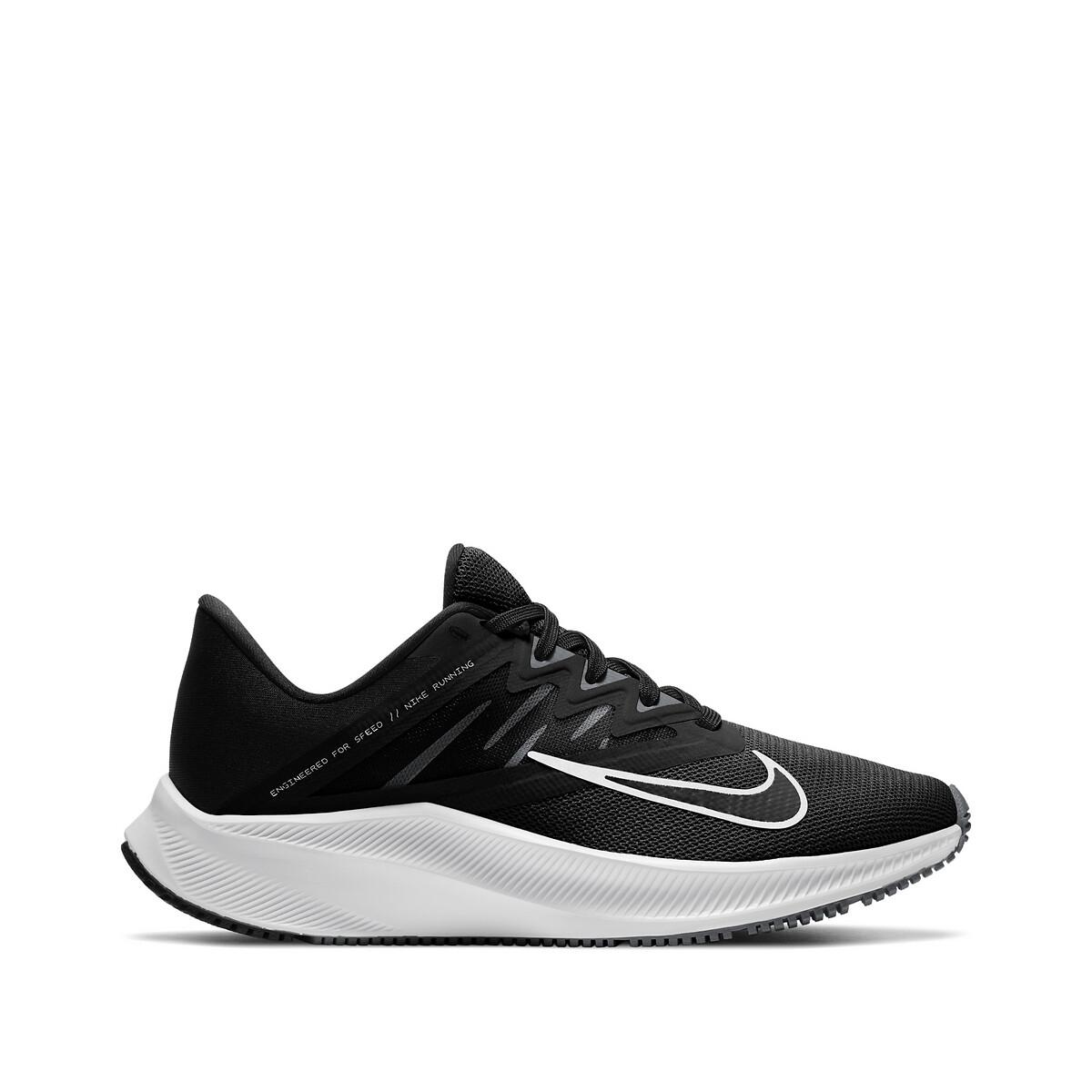 Nike Quest 3 hardloopschoenen zwart/wit-donkergrijs online kopen