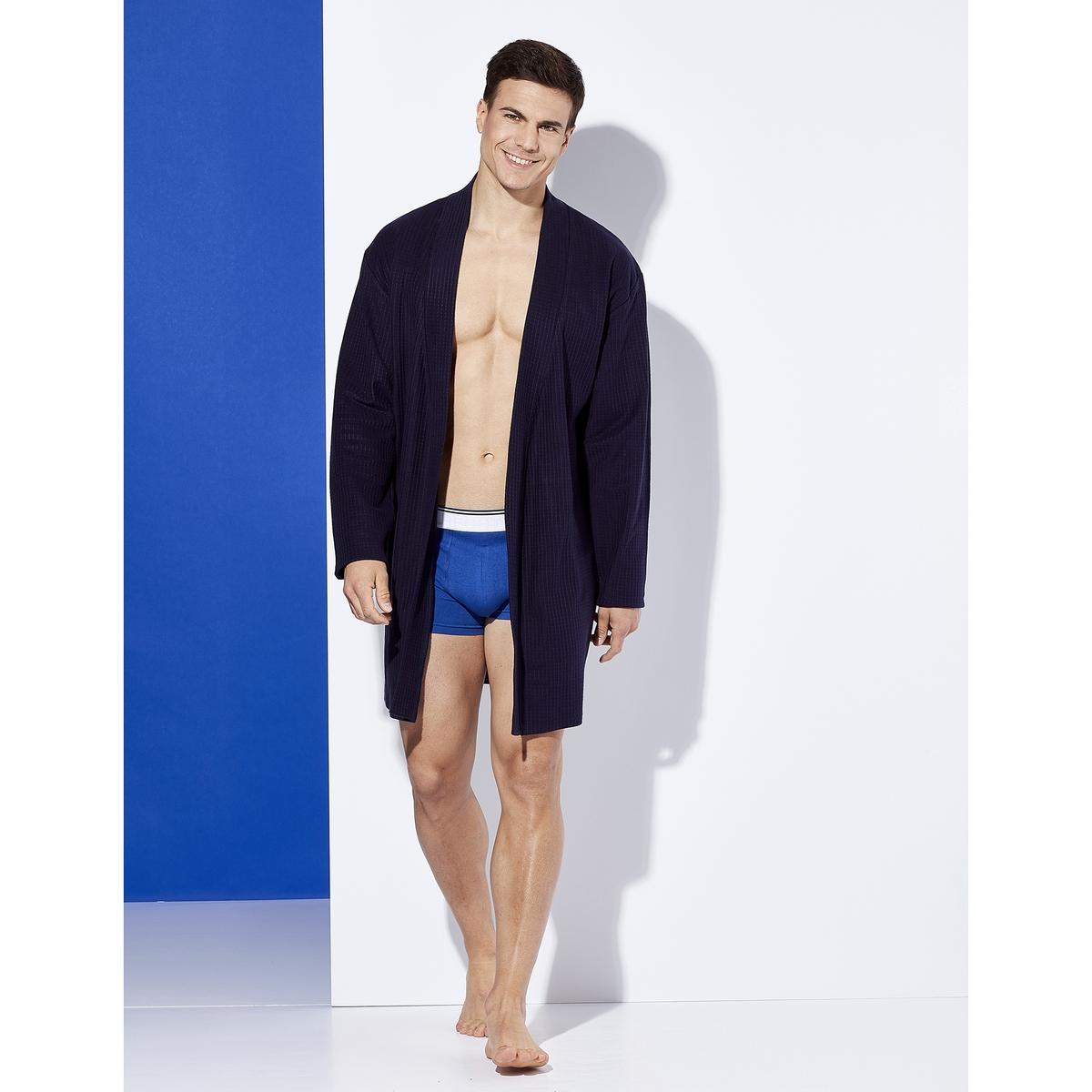 Халат La Redoute Домашний из вафельной ткани Navy Dots XL синий халат домашний laete laete mp002xw0fx5r