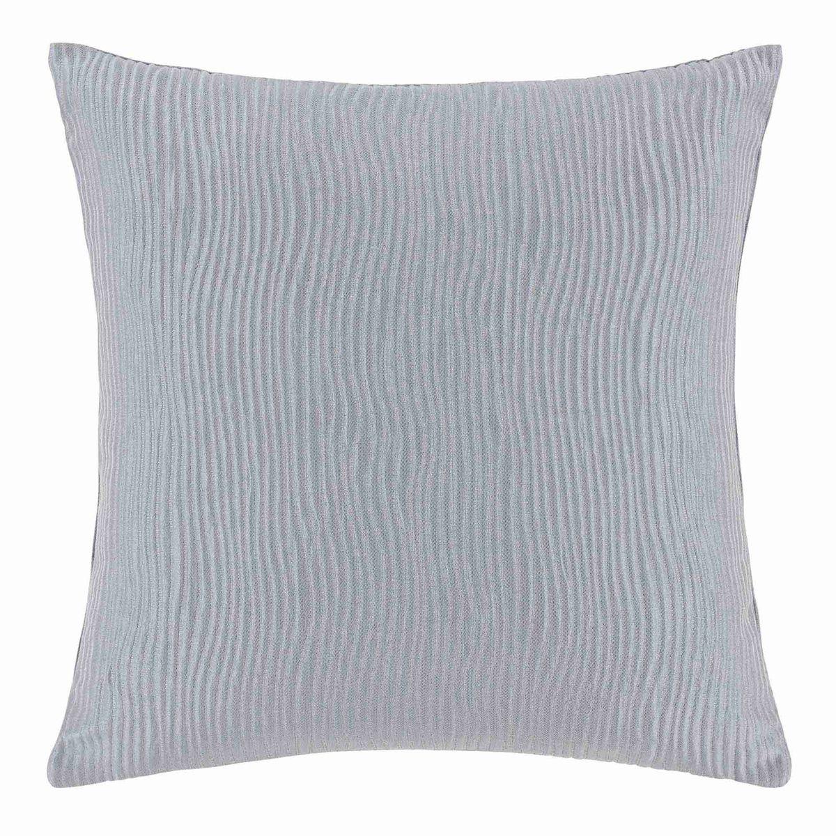 Enveloppe de coussin Polyester VAGUES Gris clair