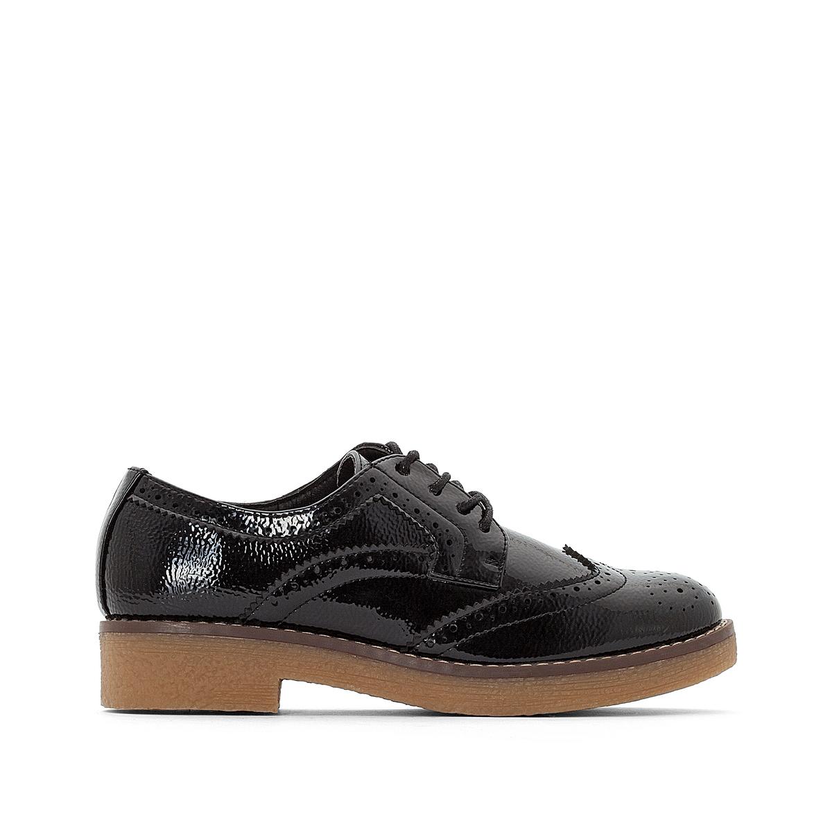 Ботинки-дерби из кожи с подошвой из крепа детские ботинки с нескользящей подошвой ginoble txg285 2015 286 287 288 289