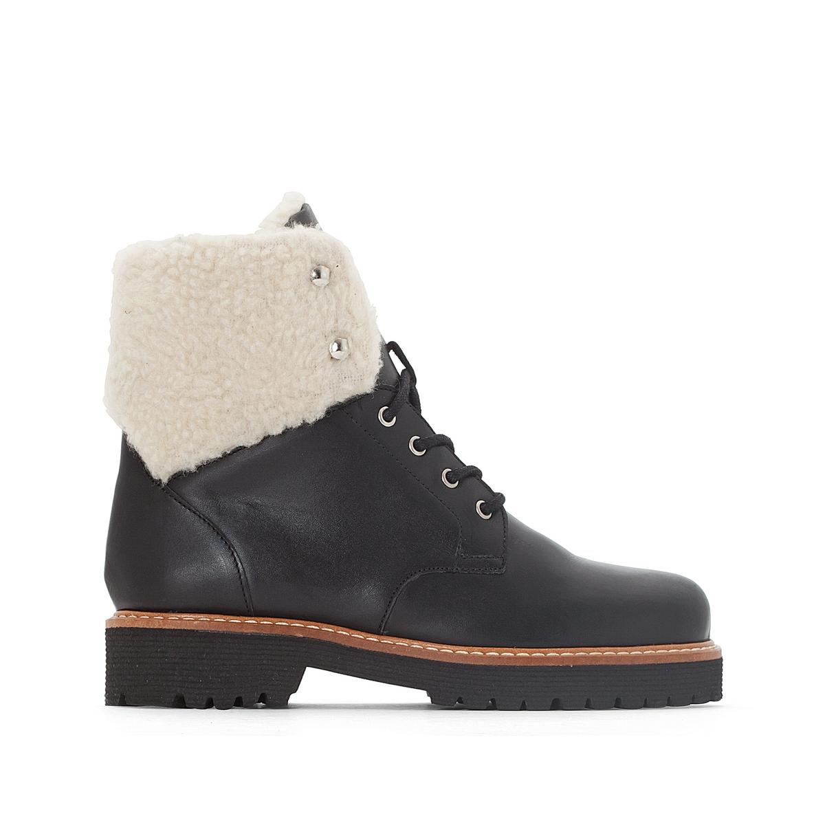 Ботинки кожаные в горном стиле
