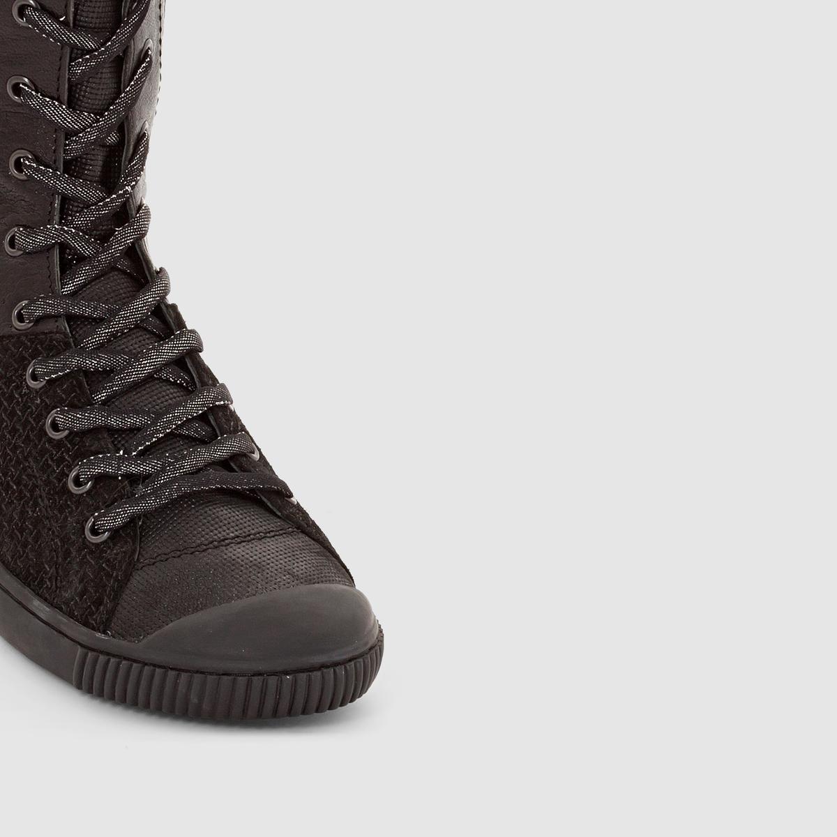 Сапоги из кожи BAMBA F4BВерх/Голенище : Кожа           Подкладка : Кожа     Стелька : Кожа     Подошва : каучук.     Высота голенища  : 29 см.     Форма каблука : Плоский каблук     Носок : Закругленный.     Застежка : шнуровка.<br><br>Цвет: черный<br>Размер: 38