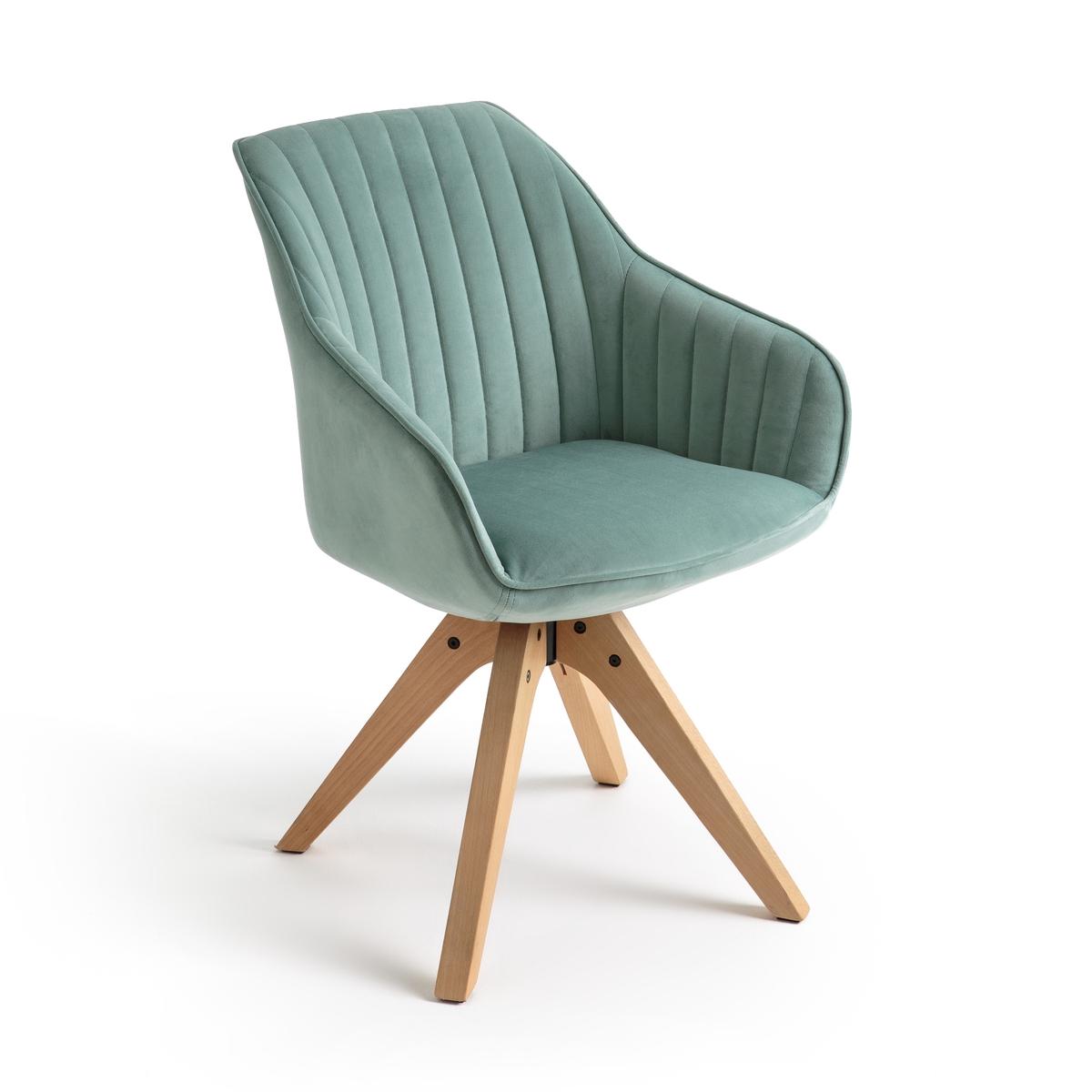 Кресло La Redoute Офисное вращающееся JIMI единый размер зеленый