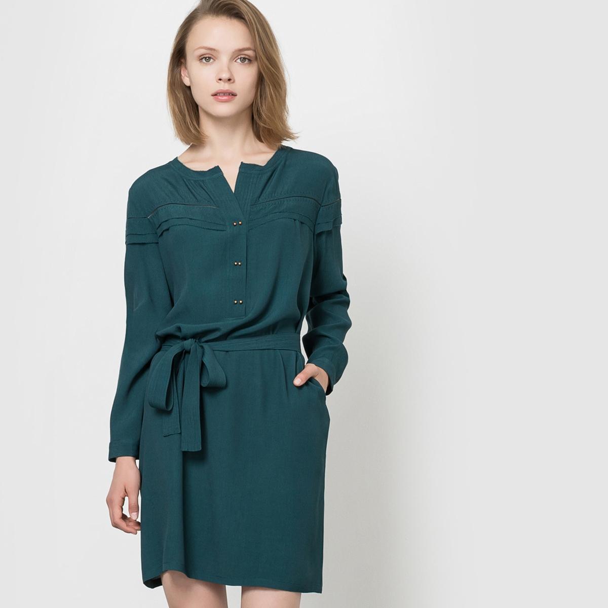 Платье прямого покрояСостав и описаниеМарка:      SEE U SOON.     Материал:     100% вискозы.          УходМашинная стирка при 30°C     с вещами схожих цветов.<br><br>Цвет: сине-зеленый,черный<br>Размер: XS.XS