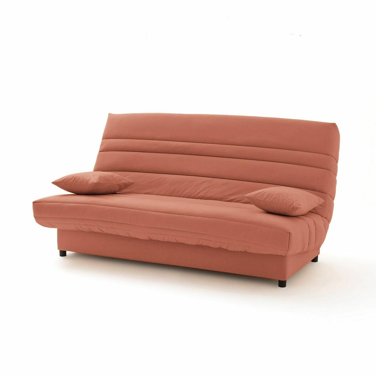 Чехол LaRedoute Натяжной для дивана-книжки и складной тумбы усовершенствованная модель 140 x 190 см зеленый