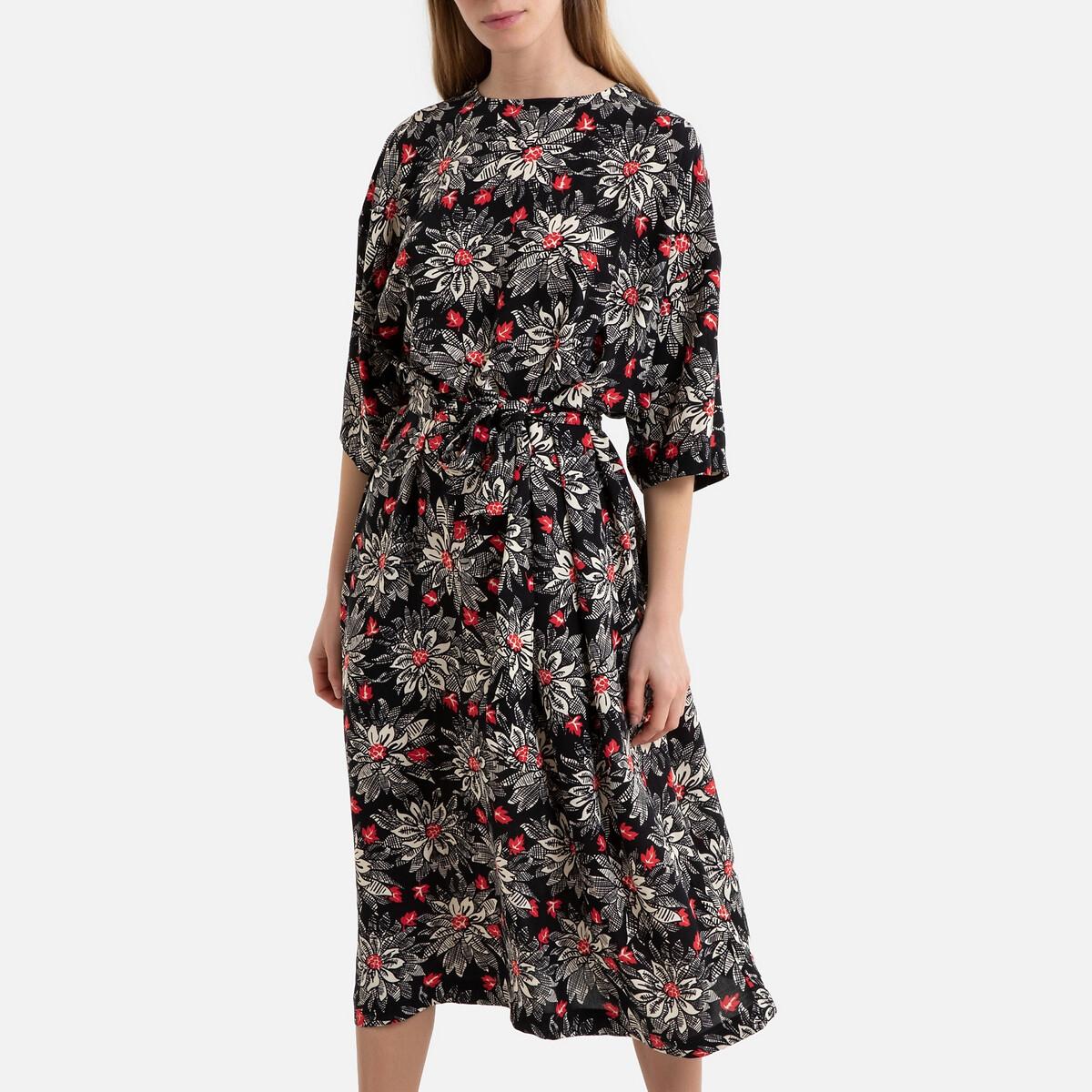 Платье La Redoute С принтом BELA XS/S каштановый платье la redoute с принтом chora 1 s другие