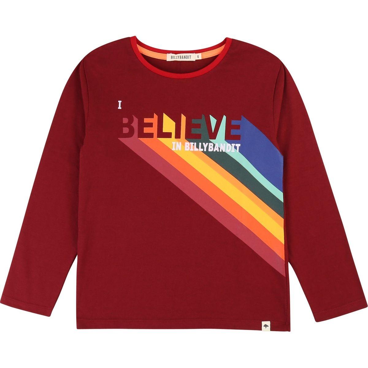 T-shirt coton imprimé et logo
