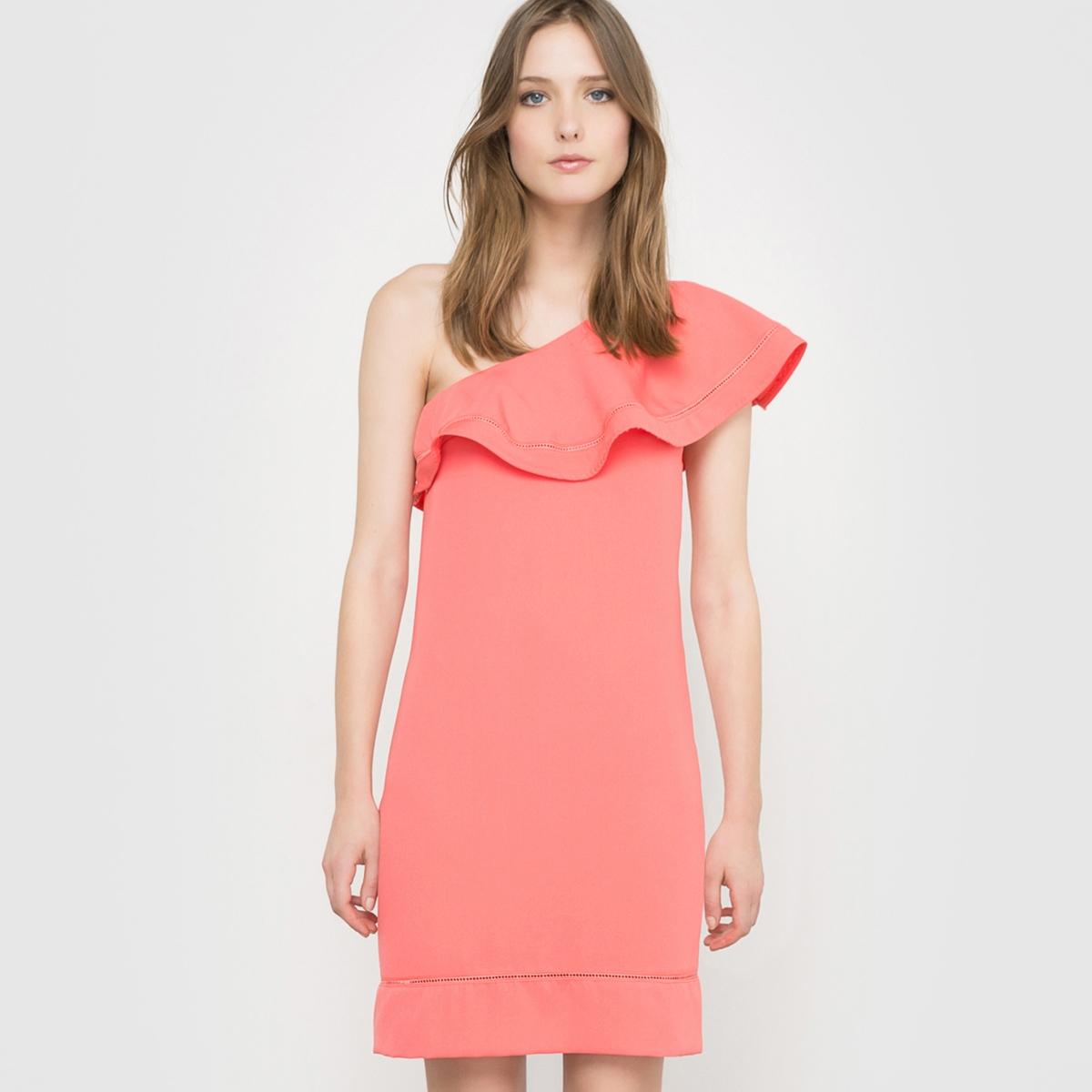 Платье вечернееСостав и описание : Материал : 100% полиэстерДлина : 90 см<br><br>Цвет: коралловый<br>Размер: 40 (FR) - 46 (RUS)