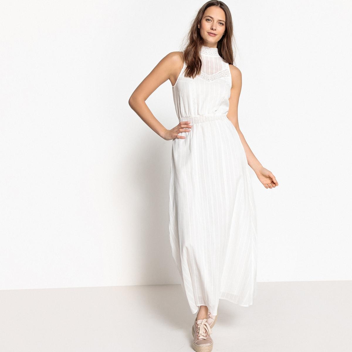 Платье длинное с напуском и вырезом из кружева платье длинное без рукавов из кружева bina