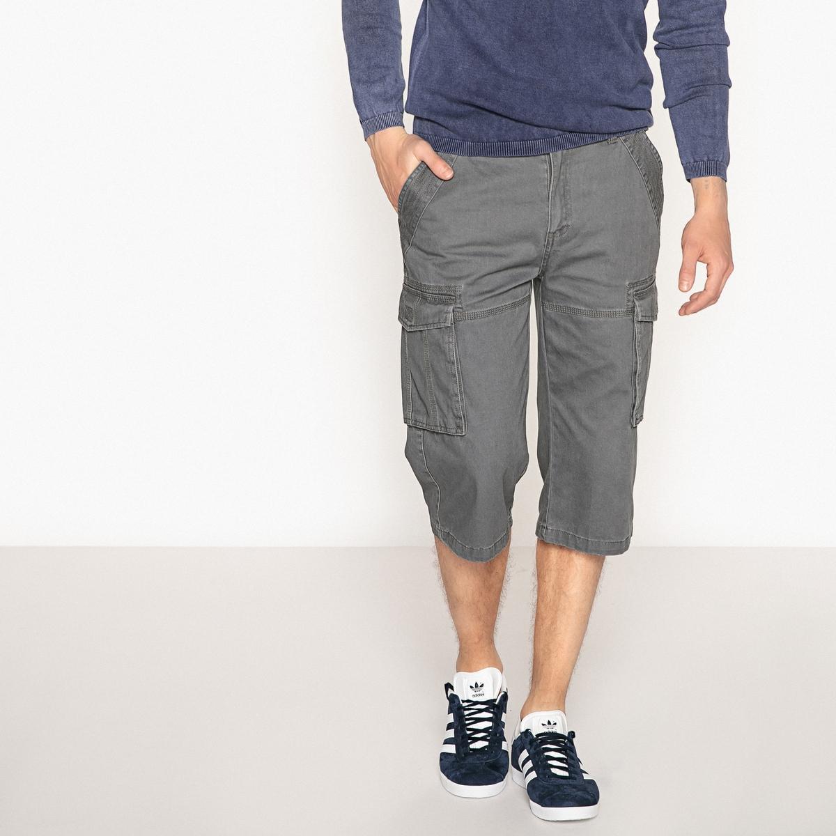 Pantaloni a pinocchietto cargo regular puro cotone