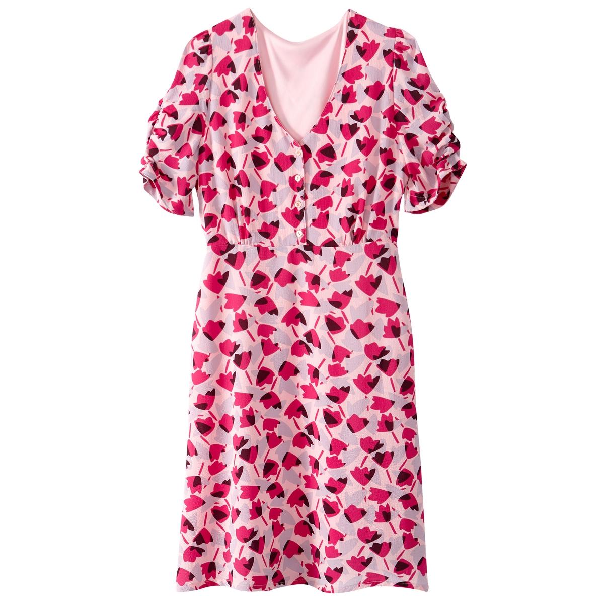 Платье расклешенное с цветочным рисунком