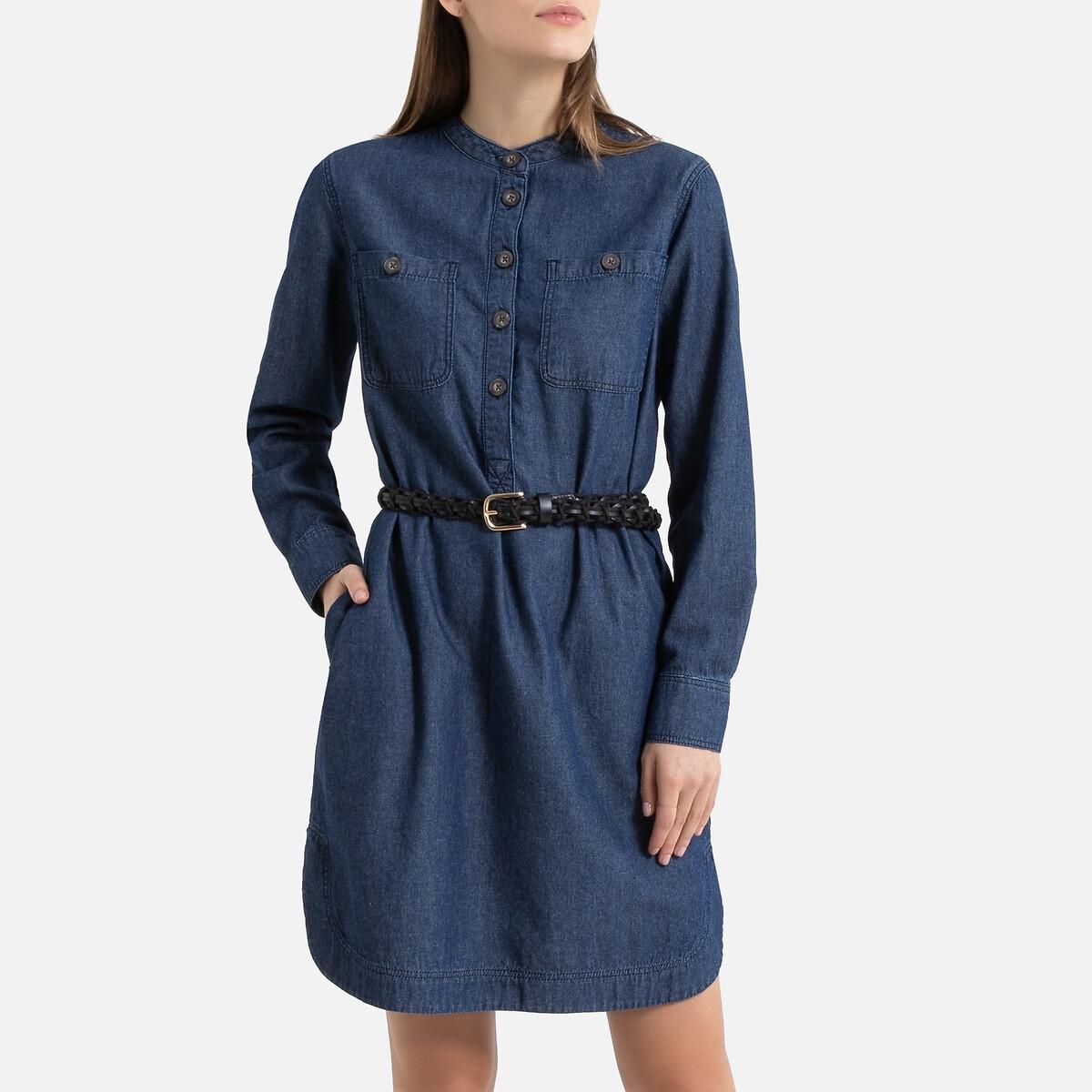 Платье La Redoute Джинсовое с длинными рукавами 34 (FR) - 40 (RUS) синий
