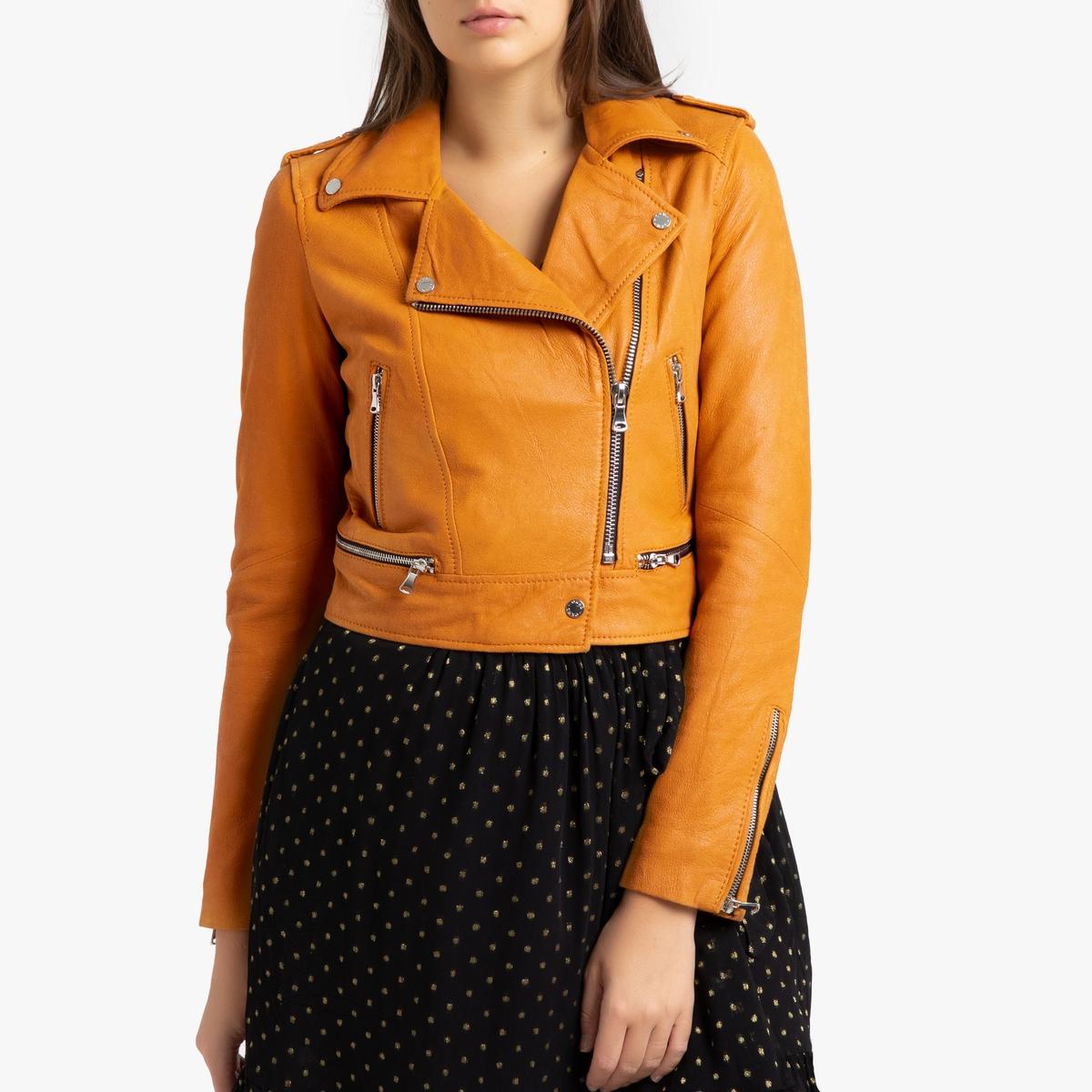 купить Блузон La Redoute Короткий из замшевой кожи YUKA S желтый дешево