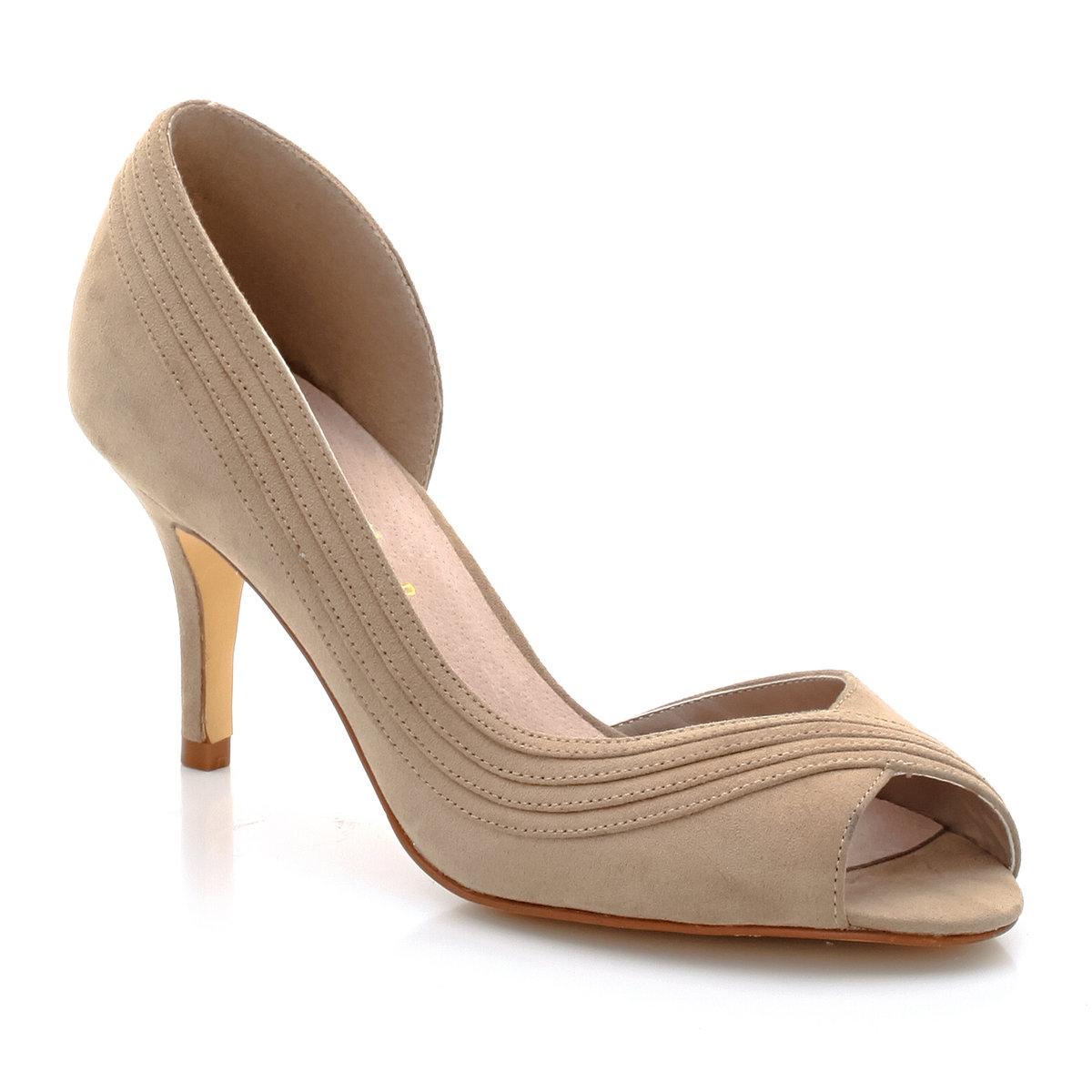 Туфли с открытым мыском