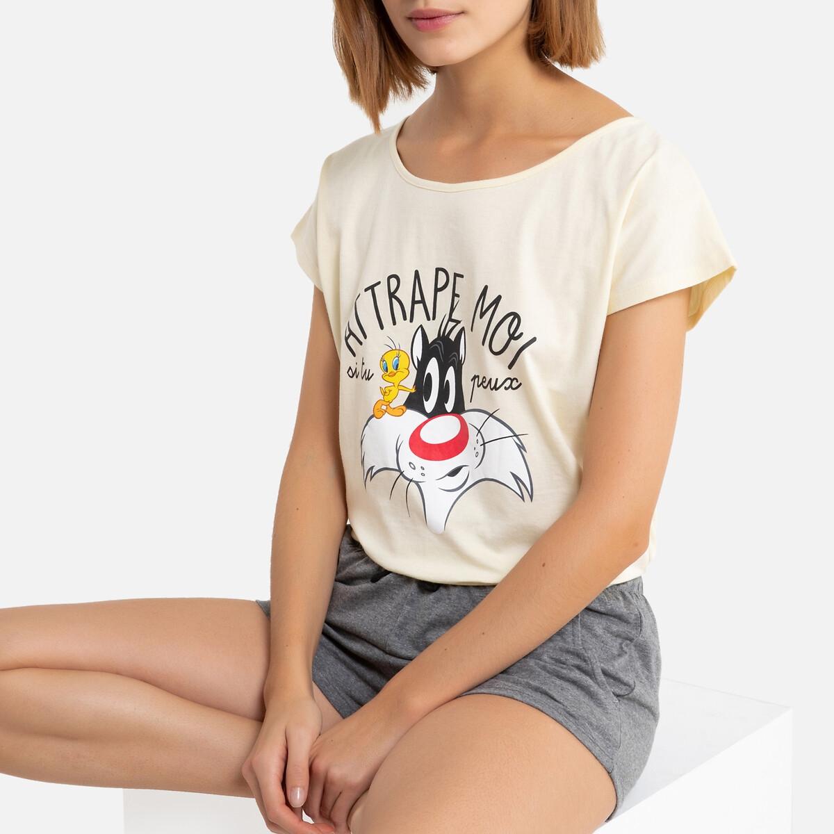 Пижама La Redoute С шортами Looney Tunes M серый