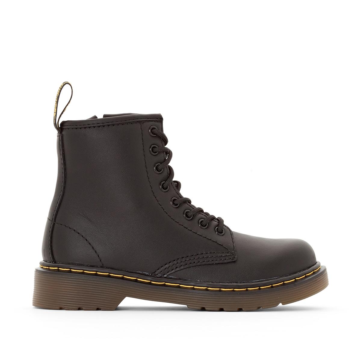 Фото - Ботинки LaRedoute Кожаные Delaney Junior 28 черный мокасины laredoute кожаные 37 другие