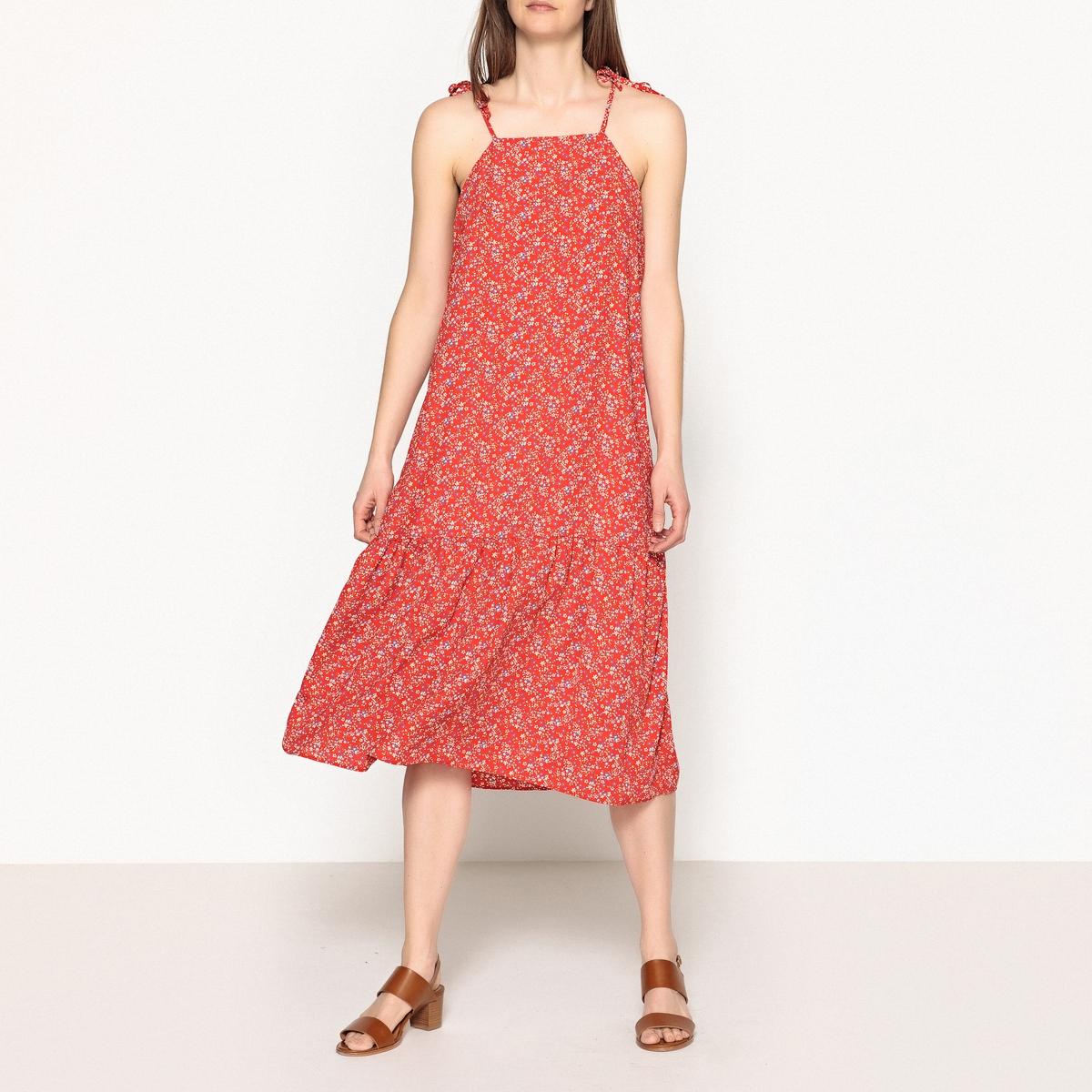 Платье с рисунком на тонких бретелях JENNY шерстяное платье на тонких бретелях