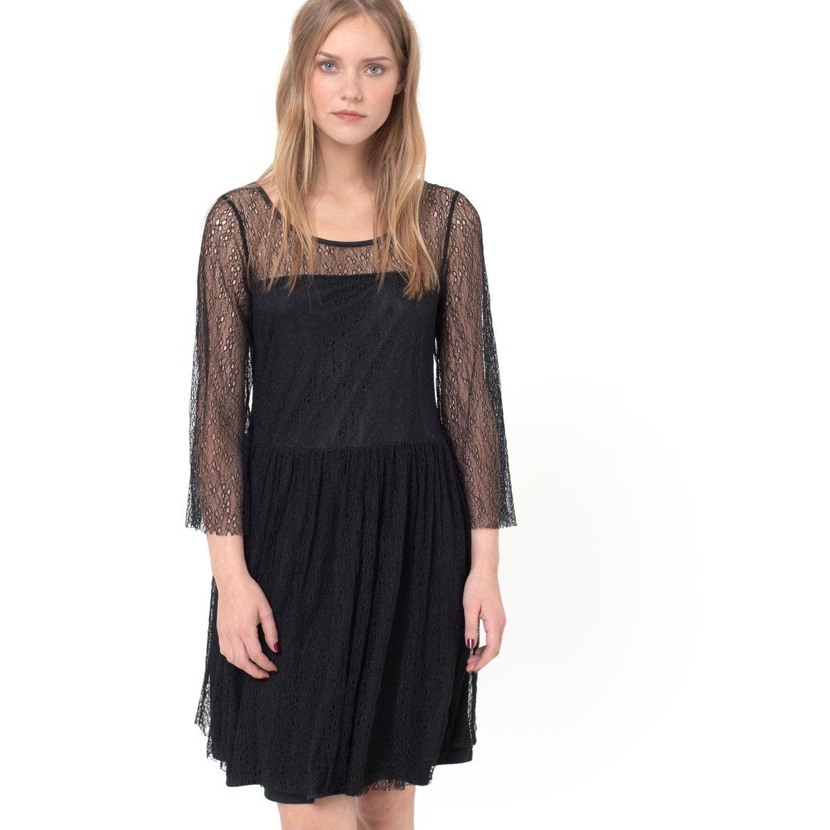 Платье кружевное на подкладке