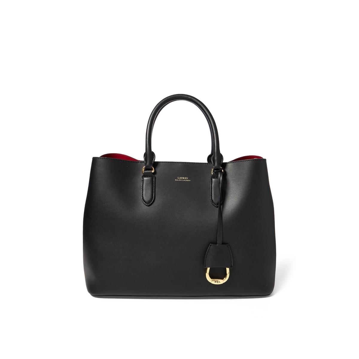 Фото - Сумка-шоппер LaRedoute MARCY SATCHEL LARGE единый размер черный сумка шоппер laredoute из льна с блесками единый размер синий