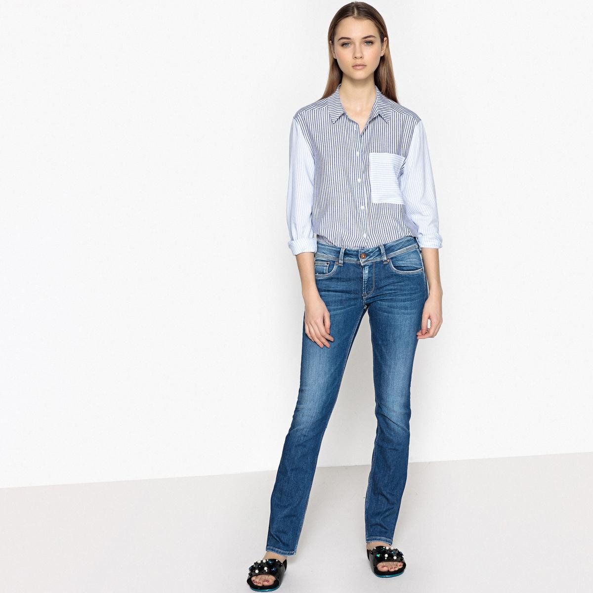 Imagen secundaria de producto de Camisa recta con cuello camisero de manga larga - Pepe Jeans