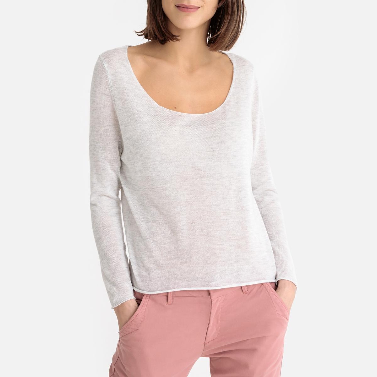 Пуловер La Redoute С вырезом-лодочкой из тонкого трикотажа SPIKBOO M серый пуловер la redoute с вырезом лодочкой из тонкого трикотажа m красный