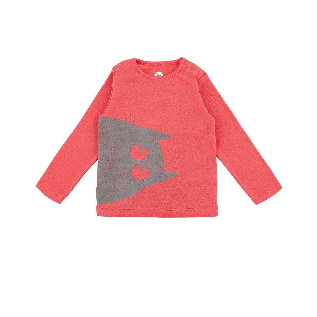 T-shirt shadow rouge Coton Bio