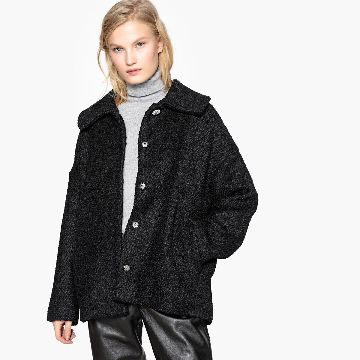 Пальто с украшениями из полушерстяной ткани пальто из шерстяного драпа 70