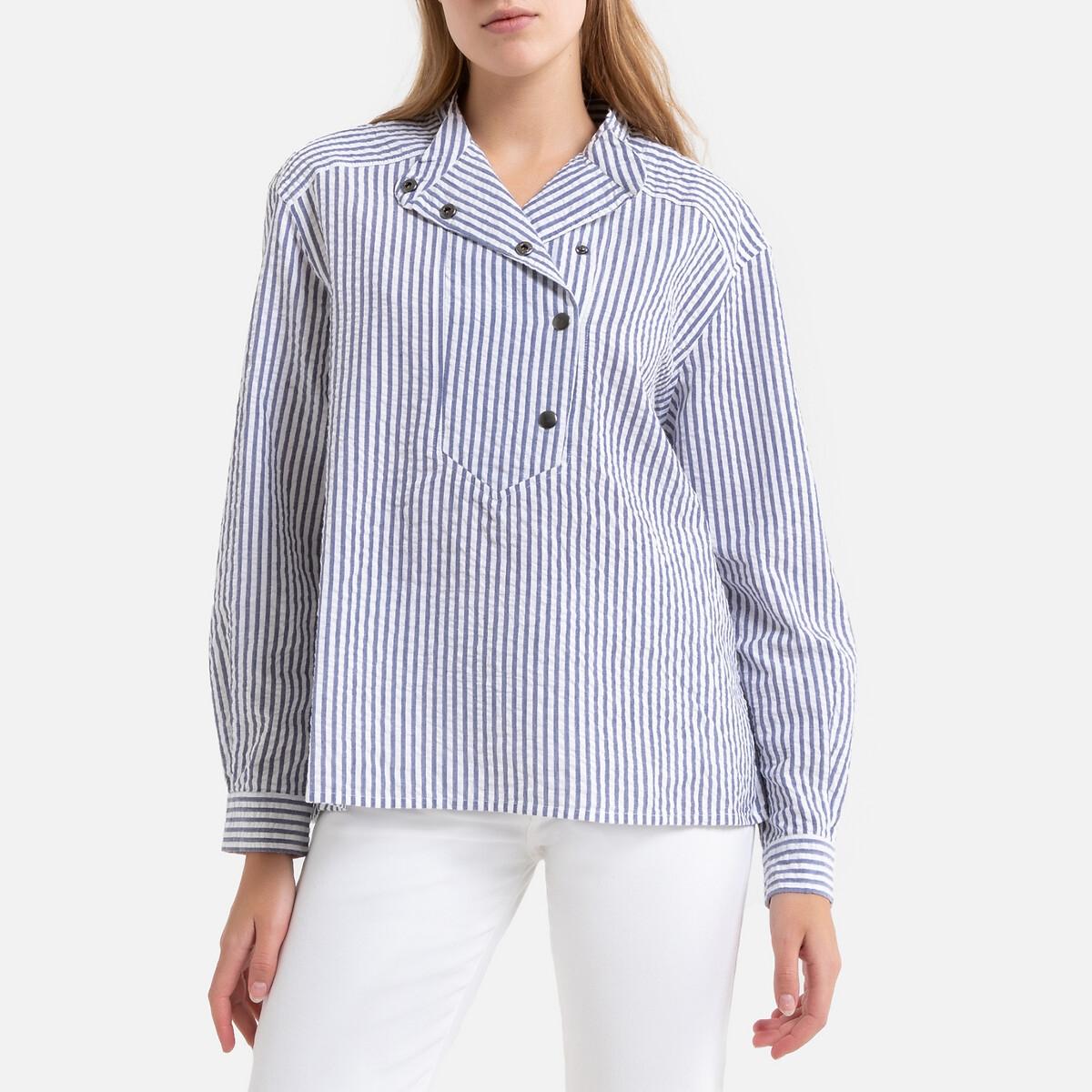 Блузка La Redoute В полоску с длинными рукавами SITA 2(M) синий блузка la redoute в полоску с длинными рукавами 12 лет 150 см другие